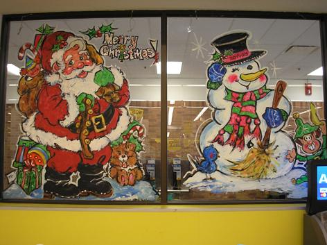 seasonal window art drawing attention