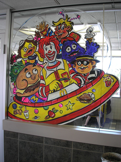Promotional art for MacDonald's.