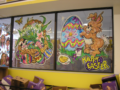Seasonal Window Art Easter