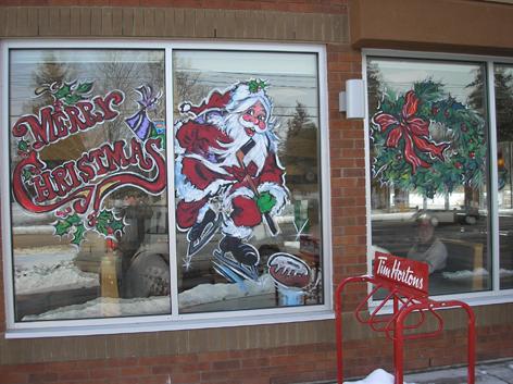 Christmas ... & Seasonal Window Art | drawing attention