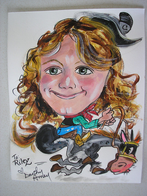 Caricature of young girl.
