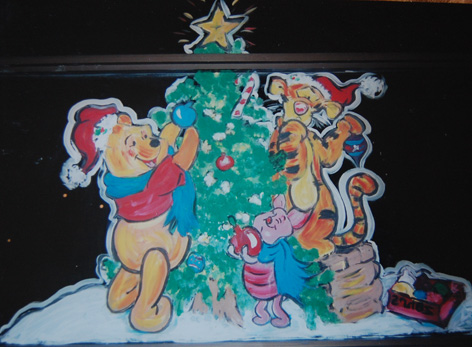 Christmas window art for Zehr's.