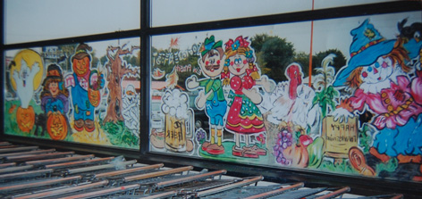 Halloween window art for Zehr's.