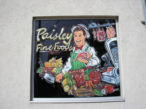 Butcher caricature for Paisley Fine foods.