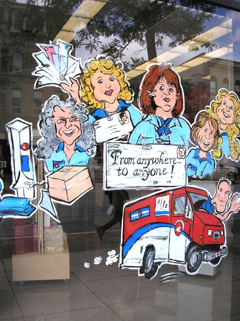 Caricatured employees for Canada Post.