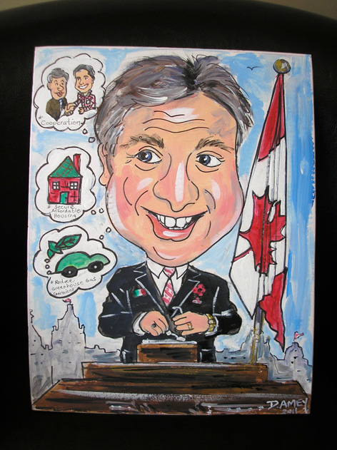 Caricature of Guelph MP, Frank Valeriote.