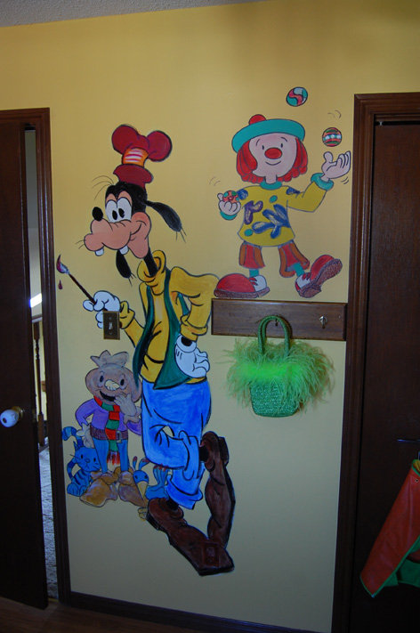 Mural artwork for children's room at private residence.