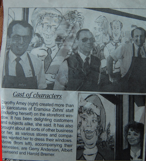 Caricatures of Zehrs management featured in local newspaper.