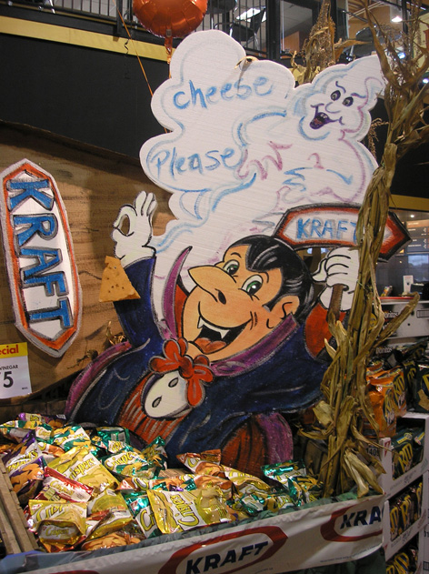 Halloween themed promotional art for Kraft foods.