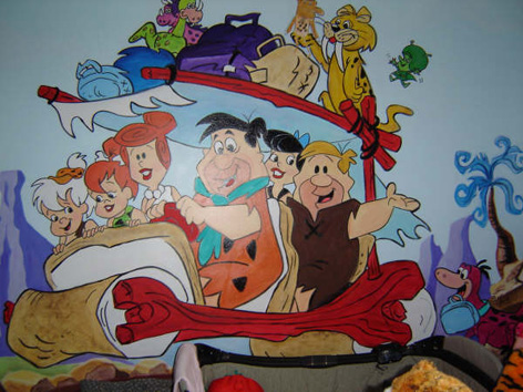 Flintstone mural for young child's room for private residence.