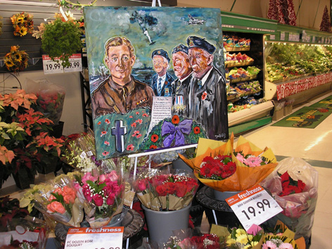 Rememberance Day painting for floral boutique at Zehrs.