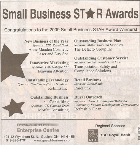 Article for Small Business Star Awards featuring Drawing Attention for Innovative Marketing!