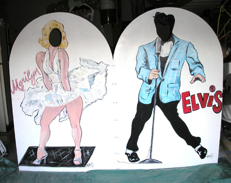 Marilyn and Elvis life size cut outs for private function.