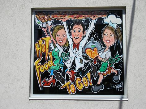 Window art work for Paisley Fine Foods.