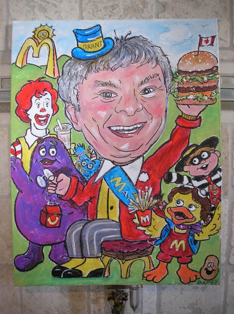 Personalized birthday card for McDonald's owner.