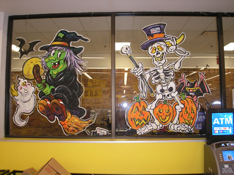 Halloween art work for No Frills in Guelph.