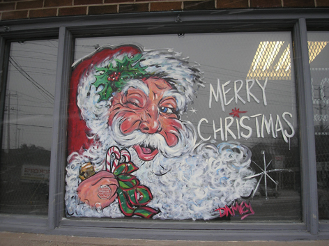 Seasonal window art work for Dairy Depot.