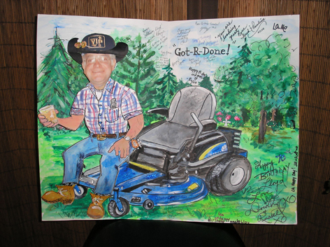 Personalized oversized 70th birthday card.