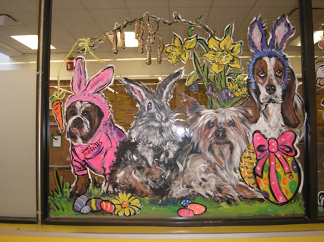 Easter window art work for No Frills.