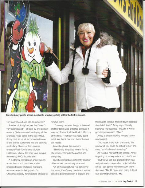 Article page 2 of My Guelph featuring Dorothy Amey.