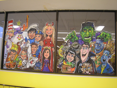 Halloween window art work for No Frills.