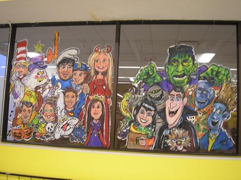 Halloween window art work for No Frills.