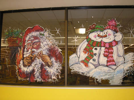 Seasonal window art work for No Frills.