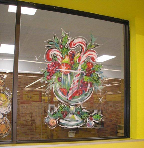 Christmas window art work for No Frills.