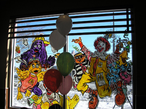 Promotional art for MacDonald's.