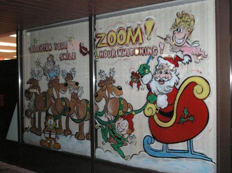 Christmas art for dental office.