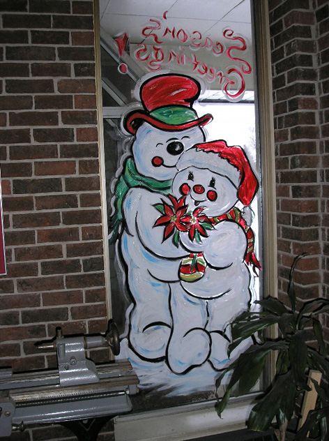 Christmas art for private residence.