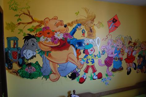 Mural artwork for children's room at private residence.