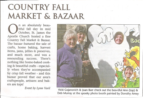 Article in Guelph Mercury featuring Halloween atwork by Dorothy Amey.