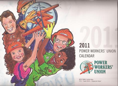 Calendar cover design for Ontario Hydro.