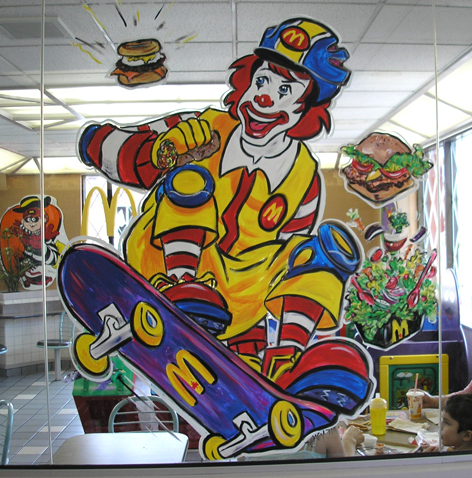 MacDonalds promotional art work in Guelph.
