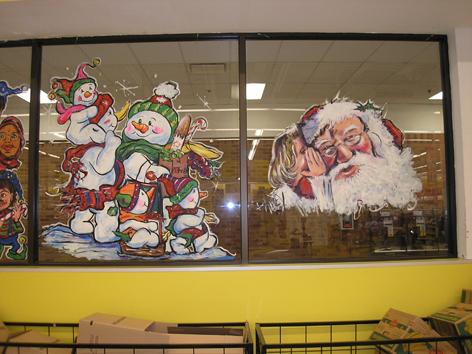 Christmas window art work for No Frills.