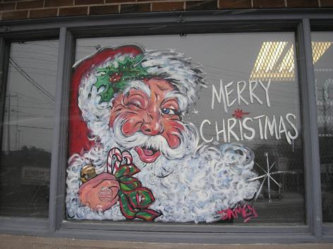 Seasonal window art work for Dairy Depot.