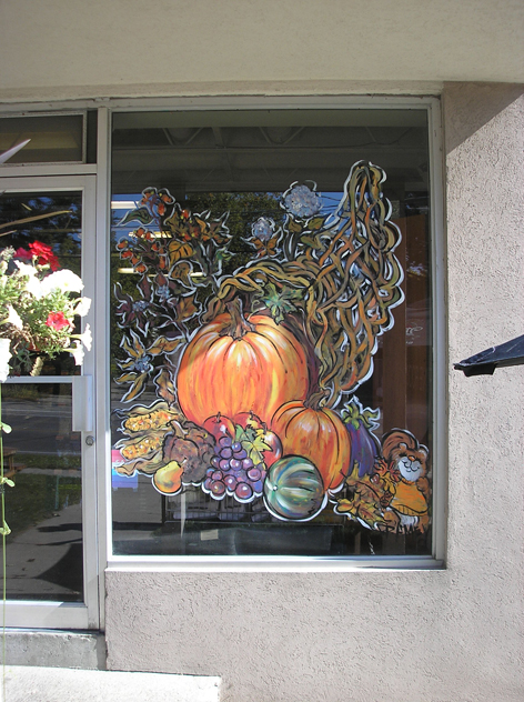Thanksgiving/Fall themed art work for Paisley Fine Foods.