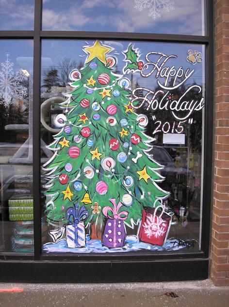 Seasonal window art work for local pet store.