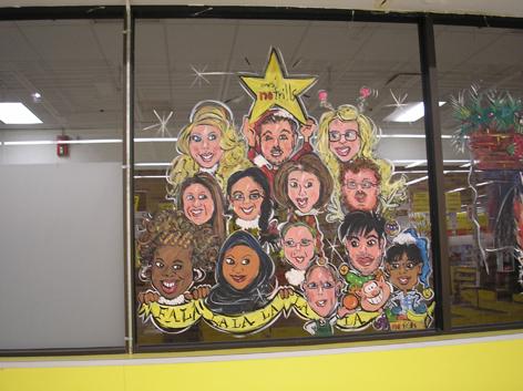 Seasonal window art work for No Frills.