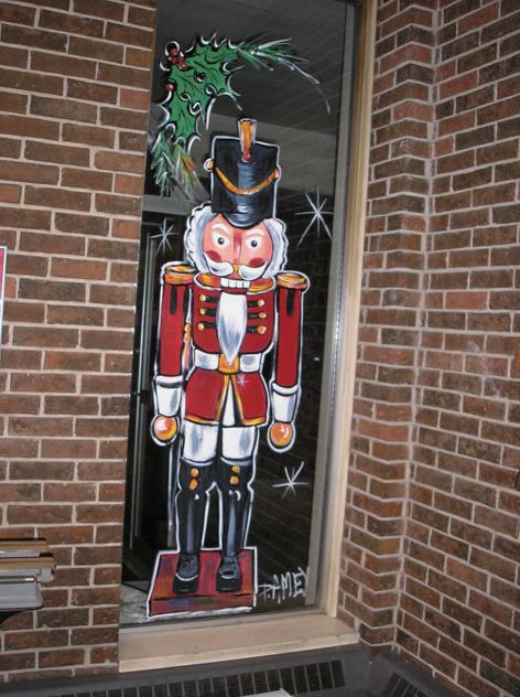 Christmas window art work for Hammond Manufacturing.