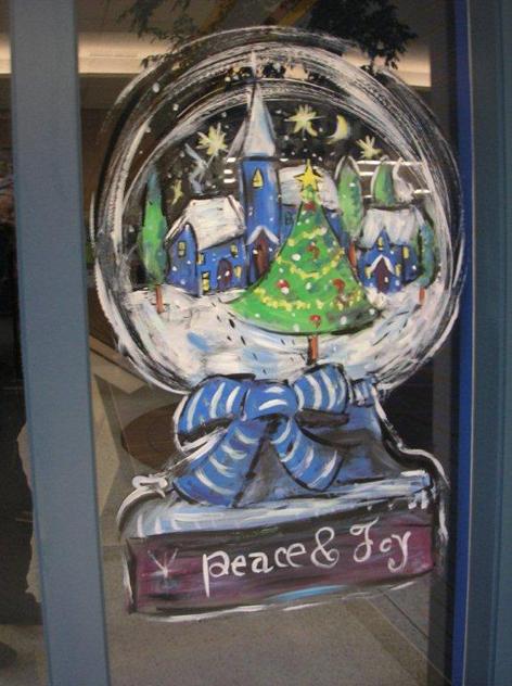 Christmas window art work for Old Quebec Street.